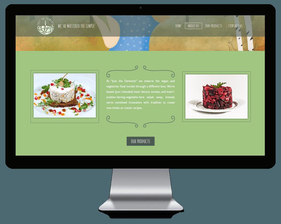 Вегетарианские блюда от компании